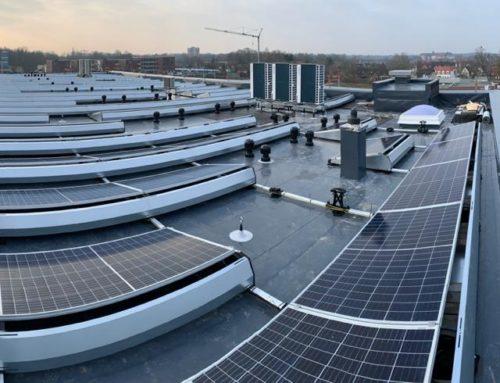 Installation einer Solaranlage für die neue Firmenzentrale der Finanz-Union Nordhorn in der NINO-Allee