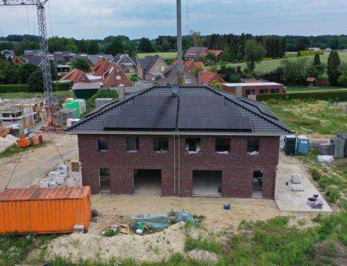 PV-Anlagen im Baugebiet Lemker Wiesen in Uelsen